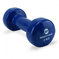 Mancuernas de Vinilo Bodytone DV2 2kg Azul Marino