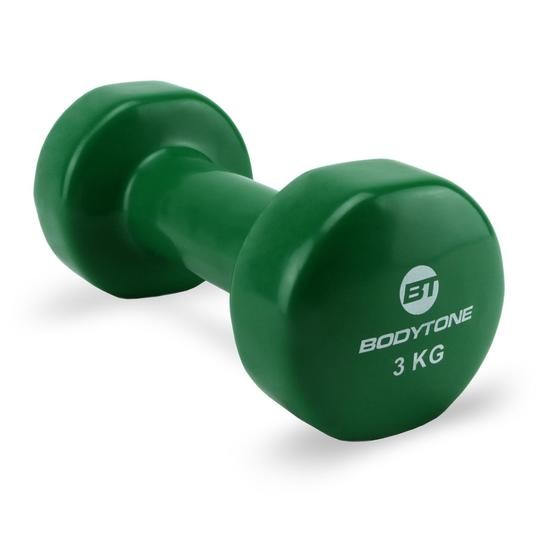 Mancuernas de Vinilo Bodytone DV3 3kg Verde
