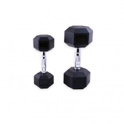 Mancuernas de Goma Hexagonales Mets Fitness PF-9050-05 5kg Par