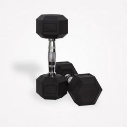 Mancuernas de Goma Hexagonales Mets Fitness PF-9050-22.5 22.5kg Par