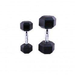 Mancuernas de Goma Hexagonales Mets Fitness PF-9050-10 10kg Par
