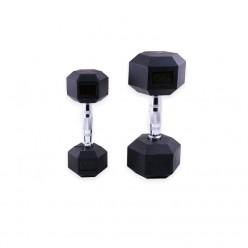 Mancuernas de Goma Hexagonales Mets Fitness PF-9050-20 20kg Par