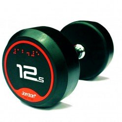 Mancuernas de Goma Jordan Fitness JTFDSRN2-018 Solid Ends 18kg Par