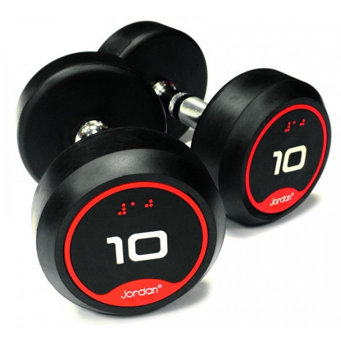 Mancuernas de Goma Jordan Fitness JTFDSRN2-020 Solid Ends 20kg Par