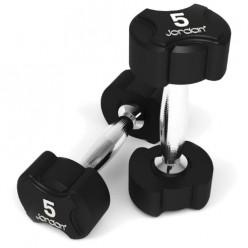 Mancuernas de Goma Jordan Fitness JT-IRD-02 Ignite Premium 5kg Par