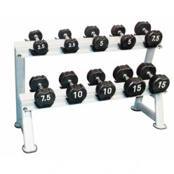 Set Mancuernass de Goma Jordan Fitness JT-IRD-P10 Ignite Premium 2-20kg