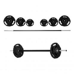 Set Fitness Pump Bodytone FPS : 1 barra, 2 topes, 2 discos 1,25kg, 2 discos 2,5kg y 2 discos 5kg