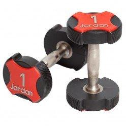 Mancuernas Uretano Jordan Fitness JT-IUD-07 Ignite 17,5kg Par