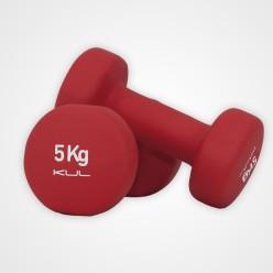 Mancuernas de Neopreno Kul Fitness 5000-05 5kg Rojo Par