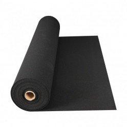 Rollo de Suelo de Caucho Geometrick 292-02 1250x10000x6mm negro liso (12,5 m²)