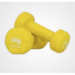 Mancuernas de Neopreno Kul Fitness 5000-03 3kg Amarillo Par