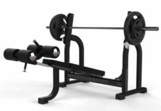 Banco Olímpico Declinado Jordan Fitness JL-ODB-BLK Negro