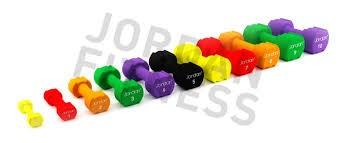 Mancuernas Jordan Fitness JTISD-3N Ignite Neopreno 3kg Verde