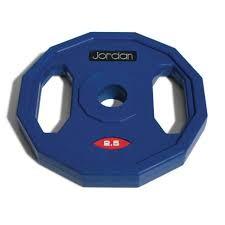 Disco Jordan Fitness JTSB2,5 Clásico de Goma 2,5kg Azul