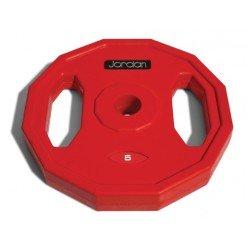 Disco Jordan Fitness JTSB5 Clásico de Goma 5kg Rojo
