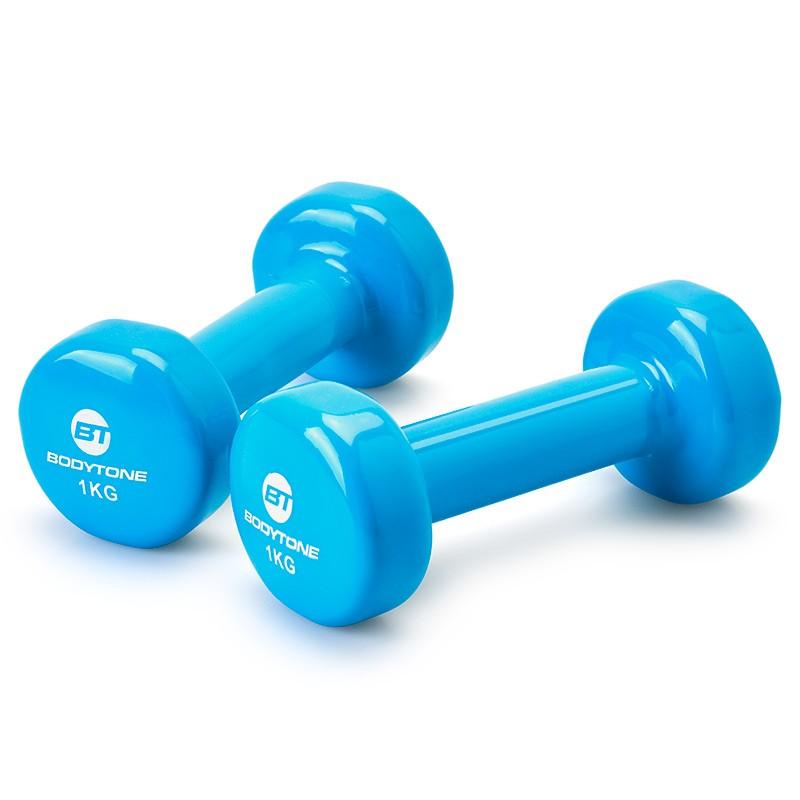 Mancuernas de Vinilo Bodytone DV1 1kg Azul Turquesa