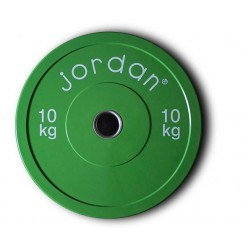 Disco Bumper Jordan Fitness JLCRTP-10 de Goma 10kg Verde