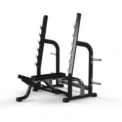 Banco Olímpico Multiajustable Jordan Fitness NJL-OAMB-BLK Negro
