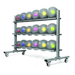 Soporte de Balones Medicinales Jordan Fitness JTMBS-20 20 Unidades