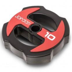 Disco Jordan Fitness JTISPU-01 Ignite Uretano 10kg Rojo/Negro