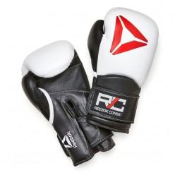 Guantes de Boxeo Reebok RSCB-10010WH-12 12oz Blanco Negro Cuero