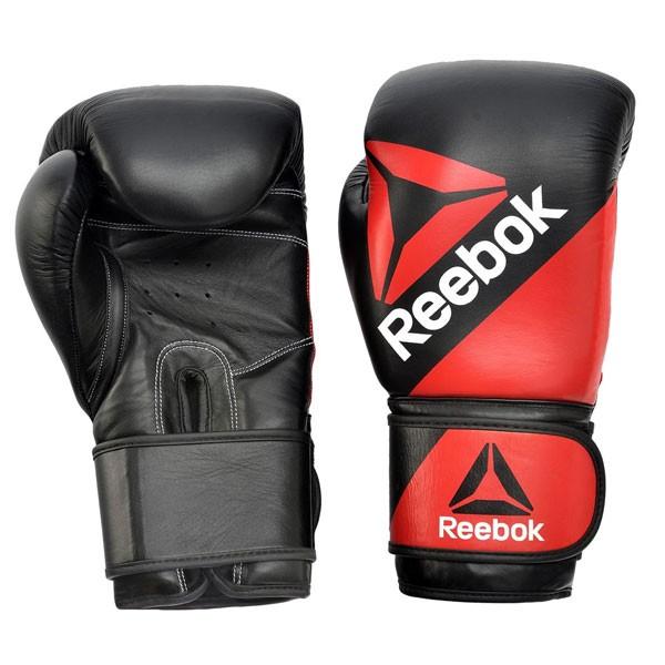 Guantes de Boxeo Reebok RSCB-10110RD-12 12oz Rojo Negro Cuero