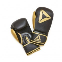 Guantes de Boxeo Reebok RSCB-11117GB-10 10oz Negro Oro Piel Sintética