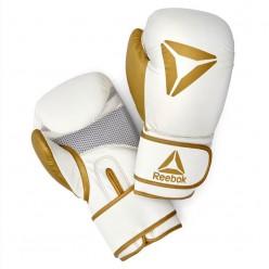 Guantes de Boxeo Reebok RSCB-11117GD-14 14oz Blanco Oro Piel Sintética