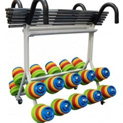 Rack de Discos y Barras Sveltus 1523 20 kits