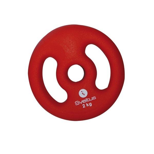 Discos con Asas Sveltus 3803 2kg Rojo