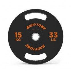 Disco de Goma con Agarre Bodytone 15kg 28mm