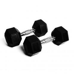 Mancuernas Hexagonales Json Fitness 17,5kg Par