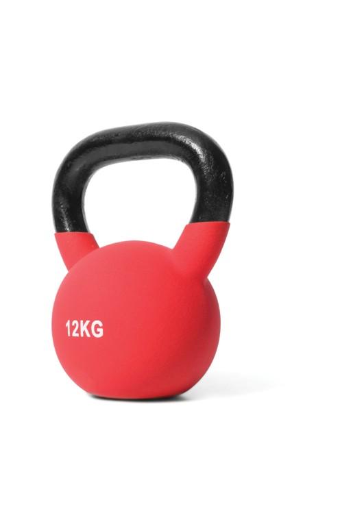 Kettlebell de NeoprenoJordan Fitness 12 kg Rojo
