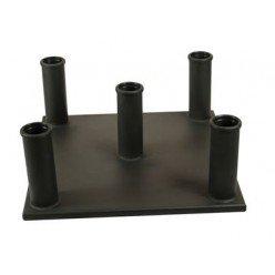 Soporte para Barras de 50mm Vertical Json Fitness (5 Barras )