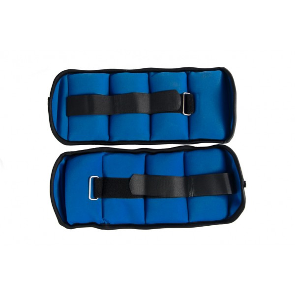 Tobillera y Muñequera Json Fitness 2kg Azul