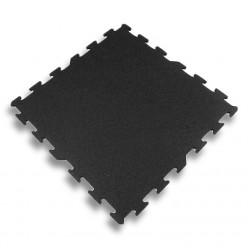 Suelo de Caucho 6mm Basic Line Puzzle Negro 1x1m
