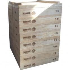 Set Cajones Halterofilia Maniak Fitness Jerk Box MK-0155