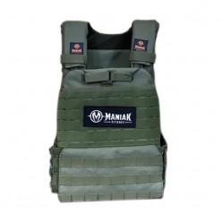 Chaleco Tactical Maniak Fitness Plate Carrier MK-0493 Verde Militar