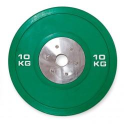 Disco Bumper Json Fitness Competición 10kg Verde