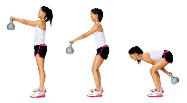 ejercicio kettlebell swing