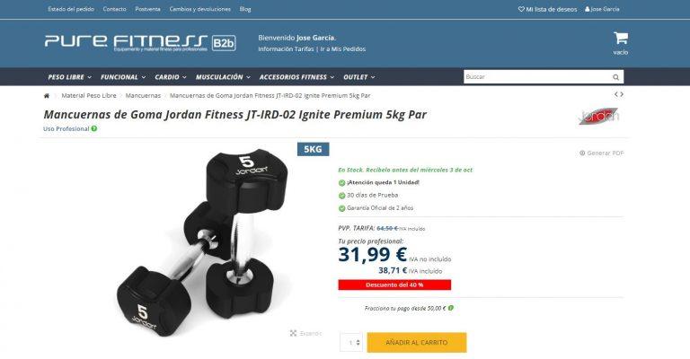 Ventajas Plataforma proveedores Fitness B2B